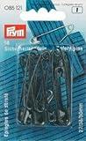PRYM 27/38/50 mm Sicherheit Pins mit Spule, 18 Stück, schwarz