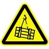 Schild Warnung vor schwebender Last 20cm sl Alu gemäß ASR A 1.3/BGV A8/DIN 4844