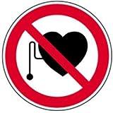 Schild Verbotszeichen Verbot für Personen mit Herzschrittmacher 20cm Ø Alu