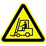 Antirutsch Bodenmarkierung mit Symbol Warnung vor Flurförderzeugen 60cm SL Folie mit Antirutschoberfläche gemäß ASR A 1.3/BGV A8/DIN 4844