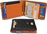 TRAVANDO Geldbörse mit Geldklammer LONDON Geldbeutel Slim Wallet Männer Münzfach RFID Portemonnaie Herren klein Portmonaise Kreditkartenetui Brieftasche Portmonee Kreditkartenhalter Portmonai Geschenk