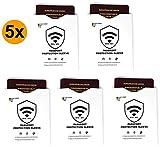 RFID & NFC Schutzhüllen (5 Hüllen) für Reisepass, Ausweis - sowohl für den Deutschen Reisepass wie auch für alle EU Reisepässe - 100% Schutz Deiner Daten - RFID Blocker