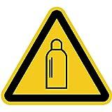 Aufkleber Warnung vor Gasflaschen 20cm sl Folie