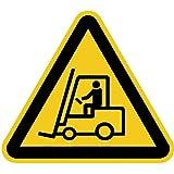 Schild Warnung vor Flurförderzeugen 30cm sl Alu gemäß ASR A 1.3/BGV A8/DIN 4844