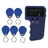 Tragbarer Handheld 125KHz RFID ID-Kartenschreiber, Kopierer Duplikator für Home Security + 5pcs beschreibbare EM4305 Schlüsselkarten