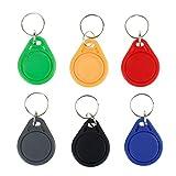 HFeng 10pcs RFID Schlüsselanhänger 13,56 MHz Key Cards Keyfob NFC Tags ISO14443A MF Classic 1k NFC Zugangskontrolle Keycard Token (Mix)