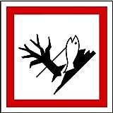 LEMAX Aufkleber GHS 09 Gefahrensymbol Umwelt, Einzeln 50x50mm