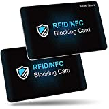 RFID Blocker Karte, Befekt Gears [2 Stück] NFC Schutzkarte RFID Blockierkarten Kreditkarten Schutz– Schützt vor Datendiebstahl - für Kreditkarte, Personalausweis, Bankkarte usw.