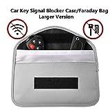 Keyless Go Schutz Autoschlüssel,Faraday Tasche,Autoschlüssel Rfid Schutz,Signal Blocker Autoschlüssel,Keyless Schlüssel (Grau)