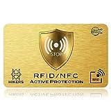RFID Blocker NFC Schutzkarte - Störsender - Keine einzelnen Karten Schutzhüllen mehr nötig. Für Kreditkarten, Personalausweis, EC-Karte, Reisepass