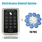GuDoQi Rfid Nähe Card Access Control Tür Zugang Einlasskontrolle Schloss 10 Schlüsselanhänger