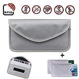Newseego Faraday Bag, Autoschlüssel-Signalblocker-Koffer, | 2X KOSTENLOSE RFID-Kreditkartenhüllen | Anti-Diebstahl-Faraday-Tasche für Autoschlüssel & Handy, die Tasche blockiert - (Grau)