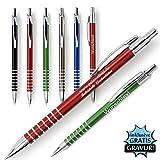 Rings Metall Kugelschreiber mit Gravur des Namens - Geschenk-Idee Mitbringsel | Farbe schwarz