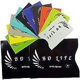 12 Stück BO-LIFE RFID & NFC Schutzhüllen, Kartenhüllen, Kreditkartenhüllen, Blocker für Kreditkarten, Personalausweishülle, EC Karten Reisepass, Bankkarte, Ausweis RFID Schutz