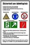LEMAX Schild Alu Sicherheit am Arbeitsplatz 600x400mm