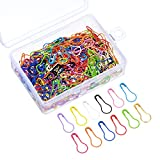 240 Stück Birne Pins Kürbis Sicherheitsnadeln Metall Calabash Pins mit Aufbewahrungsbox für DIY Handwerk machen und Kleidung, 12 Farben