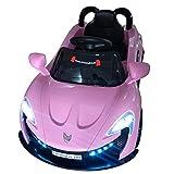Roadster mit 2x Motoren mp3 LED Elektro Kinderauto Kinder Auto Elektroauto Elektrofahrzeug (Schwarz / Weiss / Rot) (Pink/Rosa)