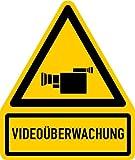 Aufkleber Videoüberwachung + Symbol 119x100mm