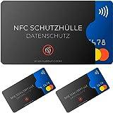 NFC Schutzhülle (3 Stück) BLOCKARD aus Kunststoff für Kreditkarte Personalausweis EC-Karte Bankkarte Ausweis - 100% Schutz vor unerlaubtem Auslesen - Kreditkarten RFID Blocker Plastik Schutz-Hülle