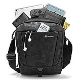 tomtoc Reise Kuriertasche Messenger Bag Schultertasche Umhängetasche mit Speicherraum für 2018 iPad Pro 11' mit Schultergurt und Zubehörtasche, RFID sicher für Kreditkarten, wasserdicht