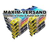 10x MAXIMPRINT XXL Tinten-Patronen SET für Brother LC-121 & LC-123 Cyan Yellow Magenta Black mit Chips (V3) der neuesten Generation - Version 3 für alle Firmware Versionen geeignet & Kompatible Ersatz Drucker-Patronen mit Tintenfüllstandsanzeige