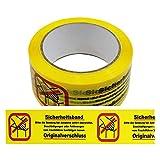 1 Rolle Klebeband Sicherheitsband - Bitte die Sendung bei Annahme Paketband Packband Warnband Hinweisklebeband