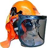 Eseno Industrial Sicherheitshelm-Set für Kettensägen/Forstwirtschaft, mit Gehörschutz, Augenschutz & Nackenschutz