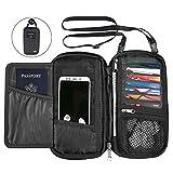 KEAFOLS Reisepass Tasche Familie Reisepasshülle mit RFID Schutz Reiseorganizer Ausweistasche Reisebrieftasche mit Reißverschluss für Passport, Kreditkarten, Flugkarten, Münzen und Reise Zubehör MEHRWE