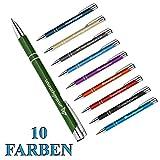 1 Metall Oleg Kugelschreiber mit Gravur des Namens - Geschenk-Idee Mitbringsel | Farbe grün