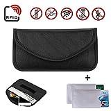 Newseego Faraday Bag, Autoschlüssel-Signalblocker-Koffer, | 2X KOSTENLOSE RFID-Kreditkartenhüllen | Anti-Diebstahl-Faraday-Tasche für Autoschlüssel & Handy, die Tasche blockiert - (Schwarz)