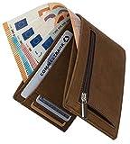 Geldbeutel mit Münzfach - RFID Schutz 13 Kartenfächer Davon 4 versteckte - Ideal als Geschenk für Herren - Geldbörse braun mit Edler Geschenkbox - Dolphin