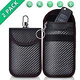 Keyless Go Schutz Autoschlüssel Schutz Keyless Hülle 2 Pack Rfid Funkschlüssel Abschirmung Schlüsseltasche Schlüsseletui Schlüsselmäppchen Car Key Safe