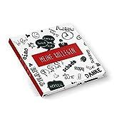 Abschiedsbuch rot schwarz weißes Kollegenbuch 21 x 21 cm HARDCOVER 164 Seiten Geschenk Buch zum Einschreiben Selbstgestalten - Abschiedsgeschenk Pension Ruhestand Jobwechsel Kollege