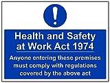 vsafety 41100bf-s Gebotszeichen, selbstklebend, 'Gesundheit und Sicherheit am Arbeitsplatz ACT 5.014 cm Landschaft, 400 mm x 300 mm, blau