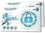 2X RFID Blocker Karte, NFC Blocking Schutzkarten verhindern Auslesen & Datenklau von Kreditkarten, Scheckkarten, Personalausweis & Reisepass. Nie Wieder einzelne Schutzhüllen! (Weiß)