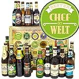 Bester Chef | Bier Set DE und Welt | Geschenk Ideen Chef