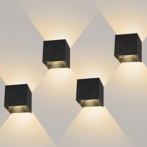 4 Stücke LED Wandleuchte 12W...