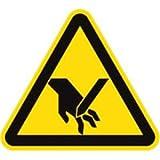 Aufkleber Warnung vor Schnittverletzung 5cm 6 Stück