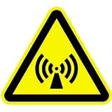 Schild Warnzeichen Warnung vor elektromagnetischem Feld 40cm sl PVC