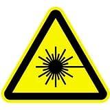Aufkleber Warnschild Warnung vor Laserstrahl 10cm sl Folie