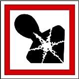 LEMAX Aufkleber GHS 08 Gefahrensymbol Gesundheitsgefahr, Einzeln 25x25mm