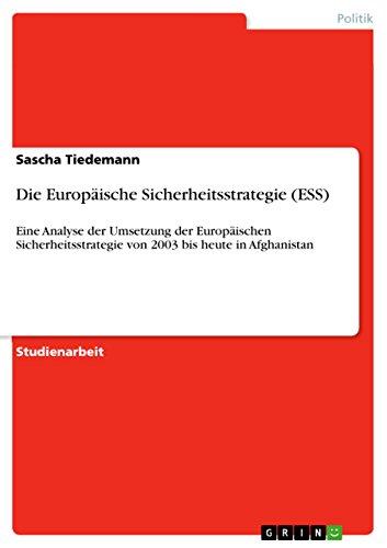 Die Europäische Sicherheitsstrategie...