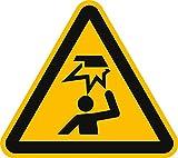 Schild Warnung vor Hindernissen im Kopfbereich nach ISO 7010 PVC 20cm SL