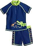 Playshoes Jungen UV-Schutz Bade-Set Krokodil Badehose, Blau (Marine 11), 110 (Herstellergröße: 110/116)
