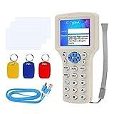FST 10 Englisch Frequenz RFID Reader Writer 125KHz Kopierer Duplikator 13,56MHz Verschlüsselter USB-Kartenleser + T5577 / UID Beschreibbare Schlüsselanhänger Schlüsselanhänger Tags