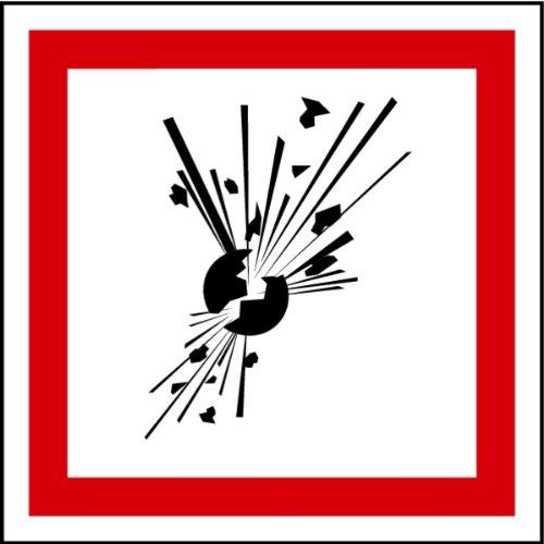 LEMAX® Aufkleber GHS 01 Gefahrensymbole...
