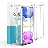 Syncwire Panzerglas für iPhone 11/XR - 3er-Pack Bildschirmschutz aus Sicherheitsglas (9H Härte, Kratzschutz, Installationsrahmen, blasenfrei, Fingerabdruckschutz) - 6,1 Zoll
