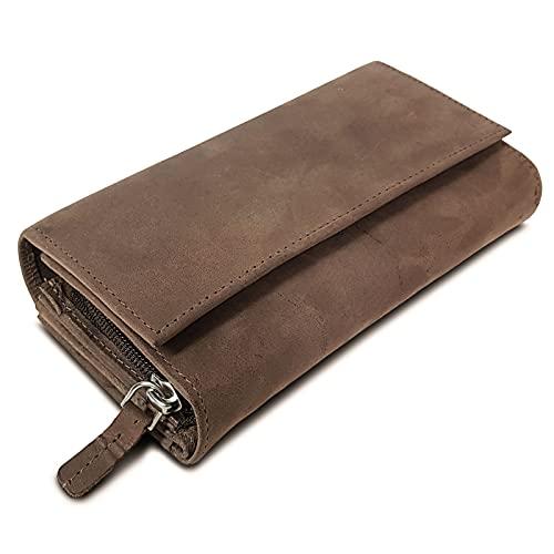 ROYALZ Vintage Leder Geldbörse für...