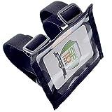 Specialist ID Armband mit Stützplatte - Kartenhalter aus strapazierfähigem Nylon mit zwei verstellbaren elastischen Bändern - hergestellt in den USA Schwarz