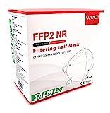 SALDI24 - Atemschutzmaske FFP2 NR Maske - EU CE 2163 Zertifiziert EN 149 Schutzmaske 20 Stück